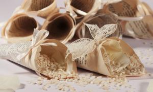 Realizzazione coni porta riso per matrimonio