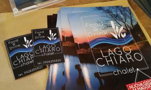 """Logo e immagine coordinata """"Lago Chiaro"""" Chalet"""