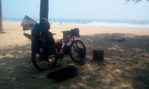 Marco, cicloturista in solitaria da Vicalvi in Asia